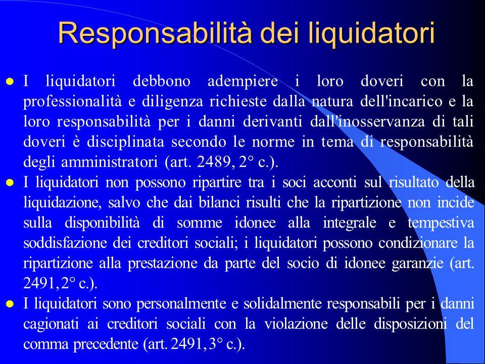Responsabilità dei liquidatori
