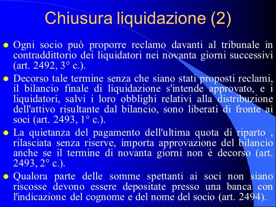 Chiusura liquidazione (2)