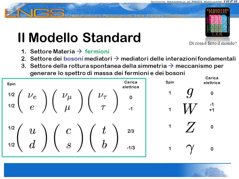 Il Modello Standard Settore Materia  fermioni