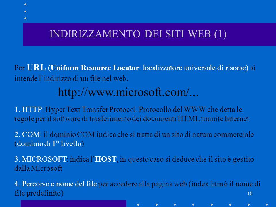 INDIRIZZAMENTO DEI SITI WEB (1)