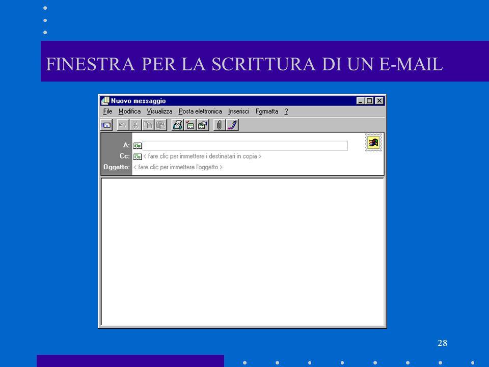 FINESTRA PER LA SCRITTURA DI UN E-MAIL