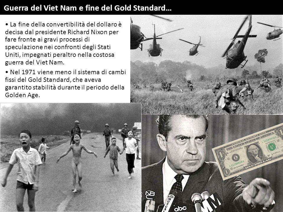 Guerra del Viet Nam e fine del Gold Standard…