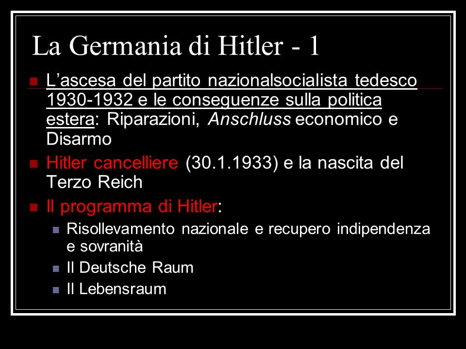 La Germania di Hitler - 1