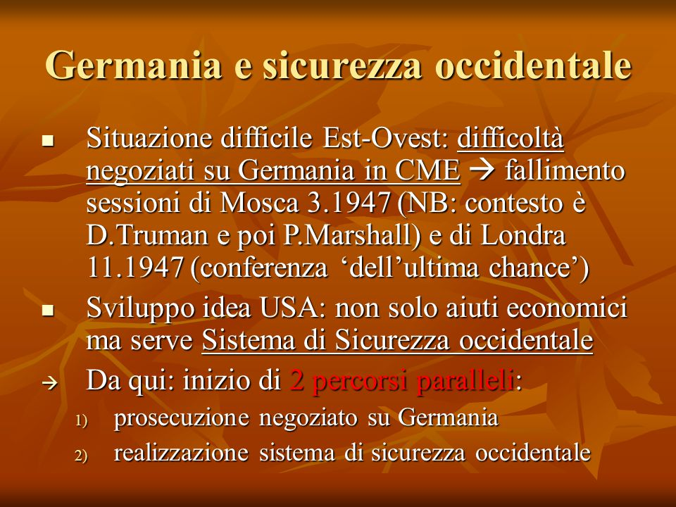 Germania e sicurezza occidentale