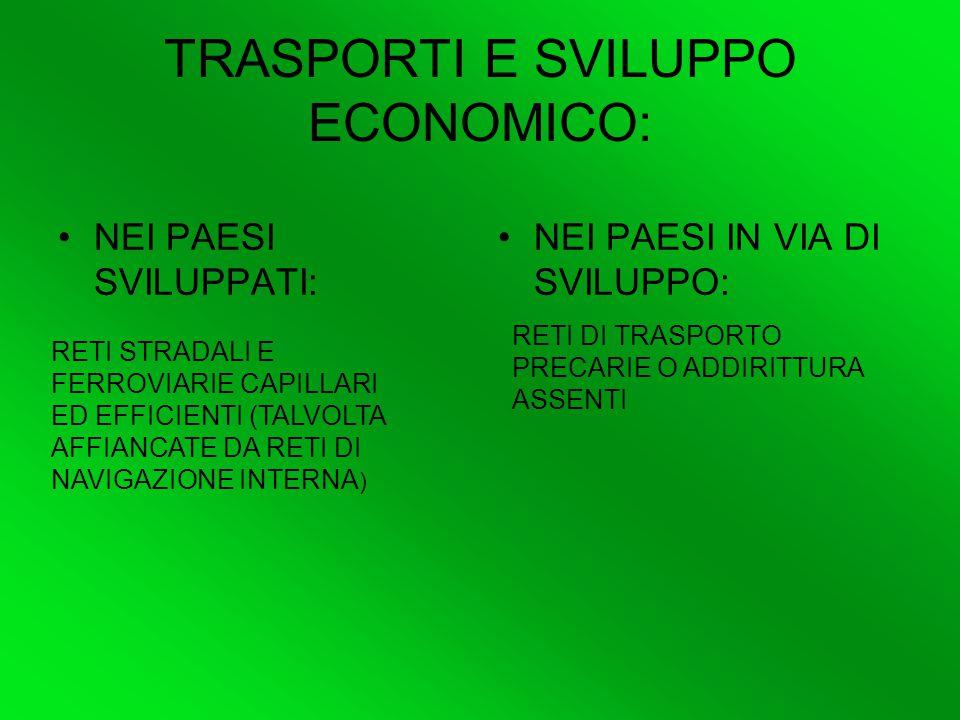 TRASPORTI E SVILUPPO ECONOMICO:
