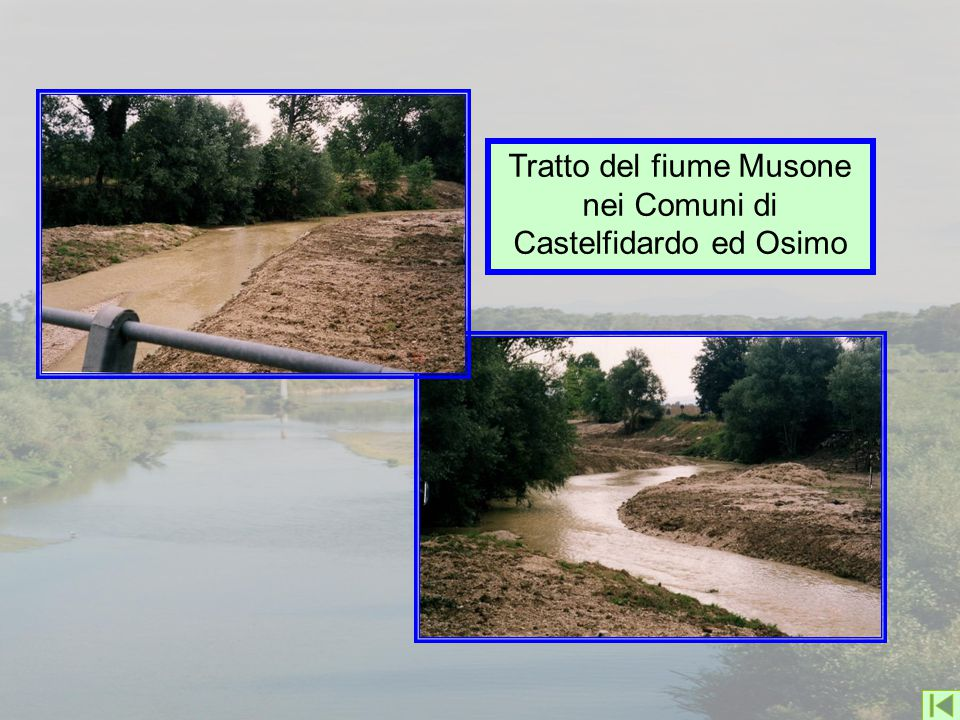 Tratto del fiume Musone nei Comuni di Castelfidardo ed Osimo