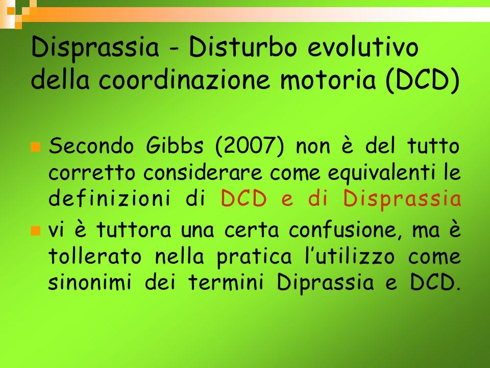Disprassia - Disturbo evolutivo della coordinazione motoria (DCD)