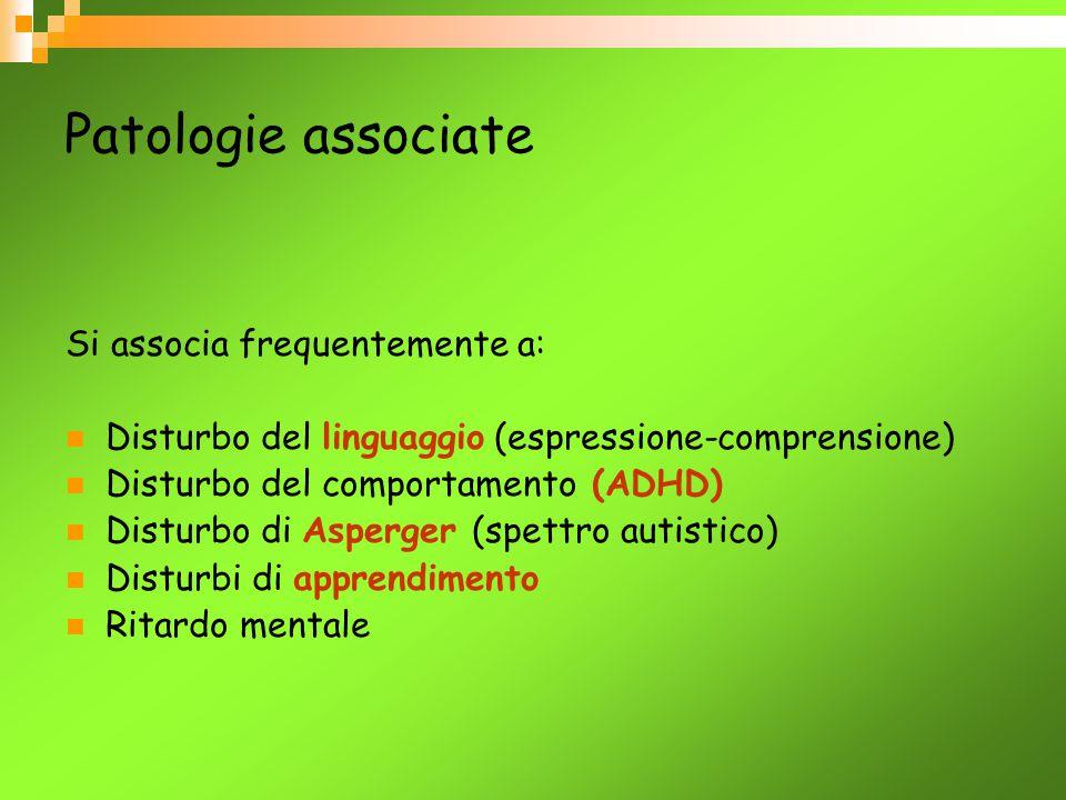 Patologie associate Si associa frequentemente a: