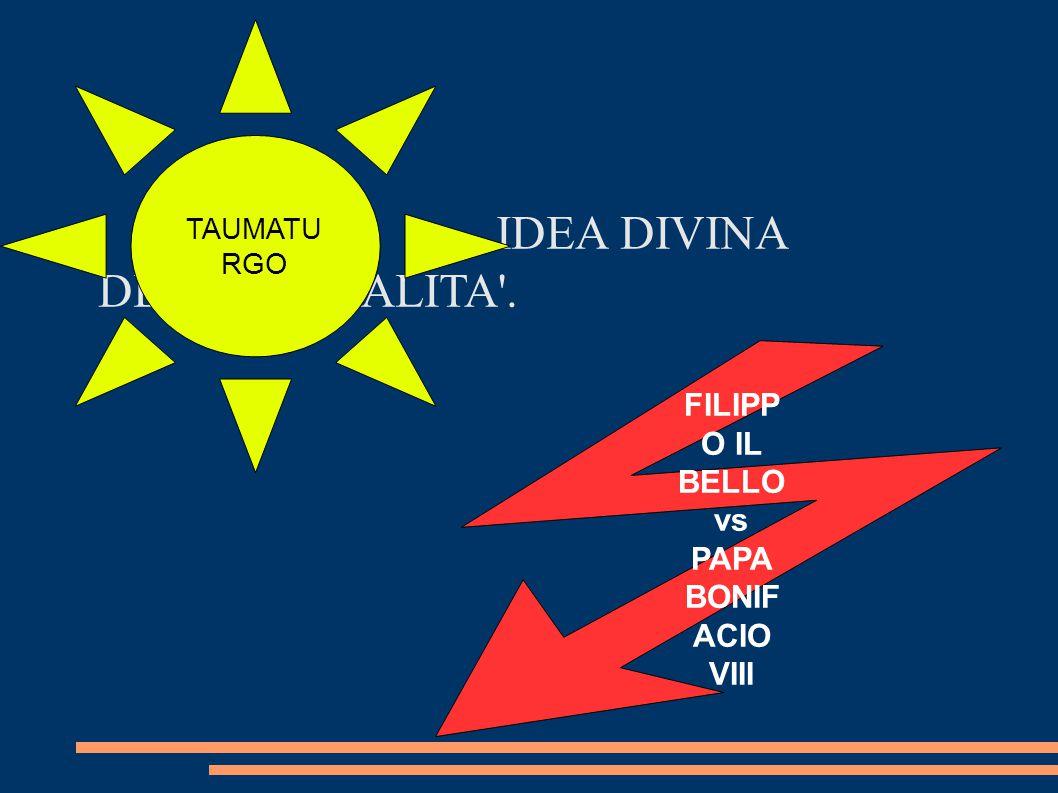 FILIPPO IL BELLO vs PAPA BONIFACIO VIII
