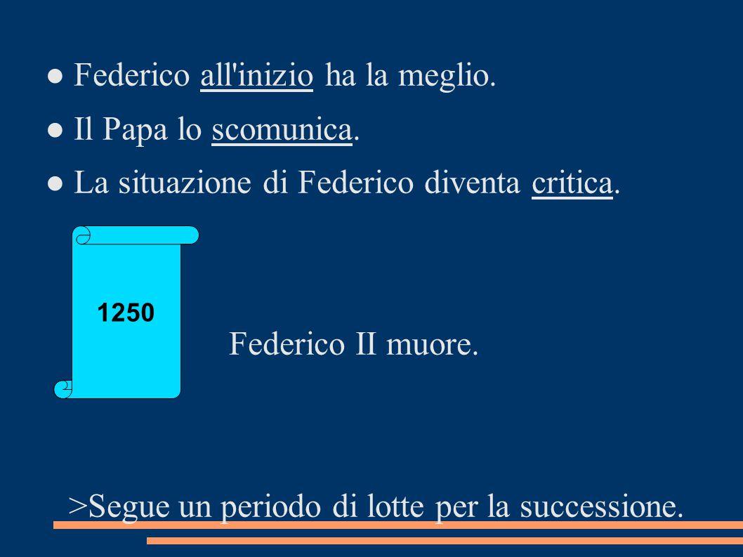 ● Federico all inizio ha la meglio. ● Il Papa lo scomunica.