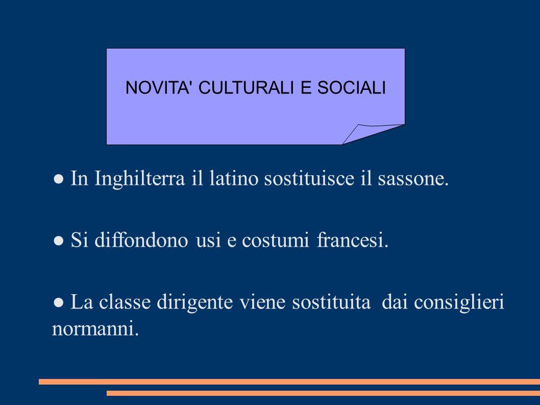 NOVITA CULTURALI E SOCIALI