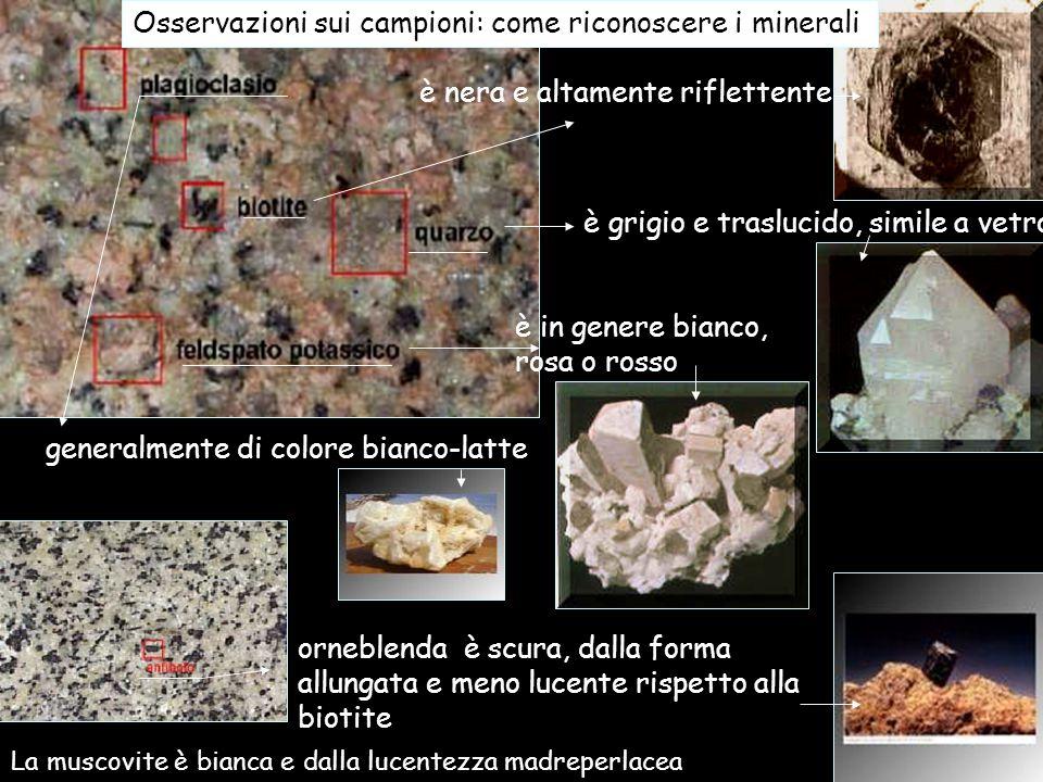 Osservazioni sui campioni: come riconoscere i minerali