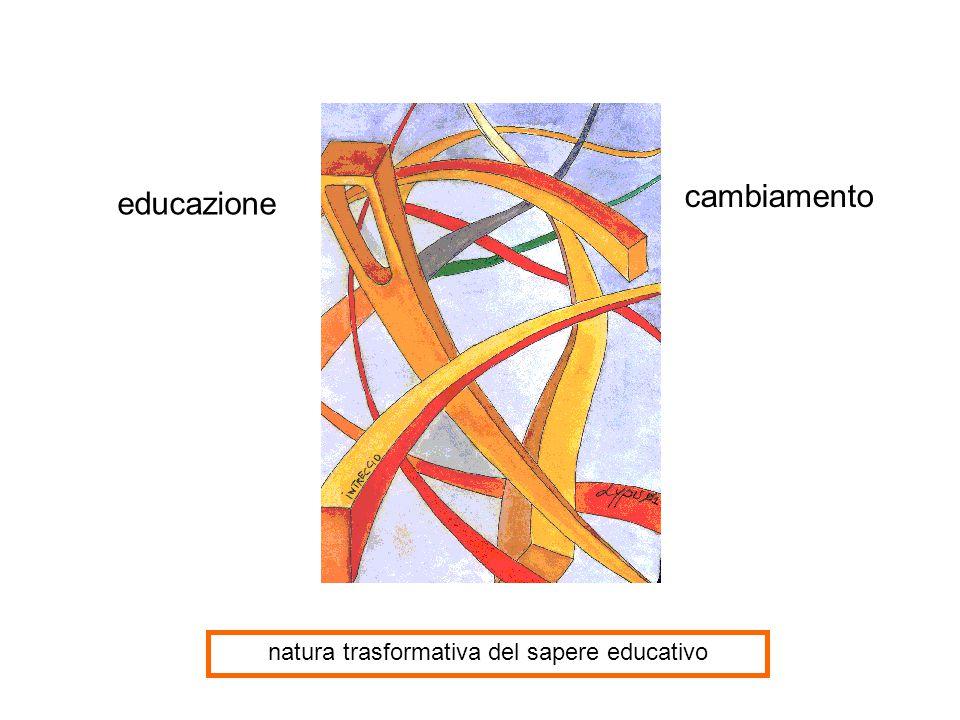 natura trasformativa del sapere educativo