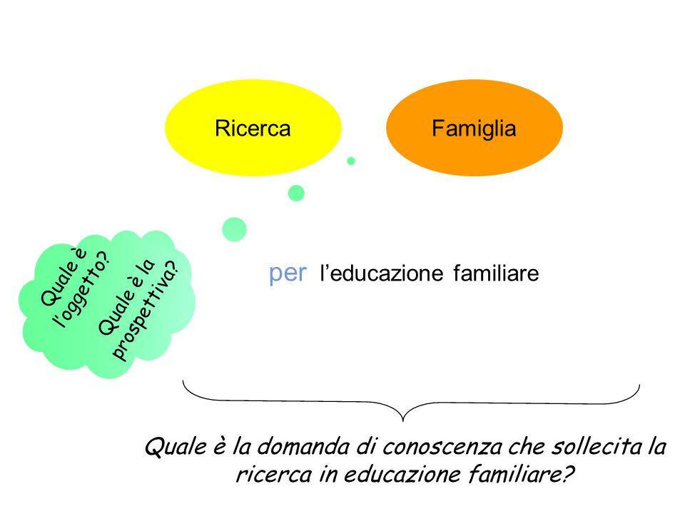 per l'educazione familiare