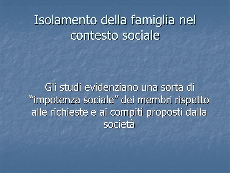 Isolamento della famiglia nel contesto sociale
