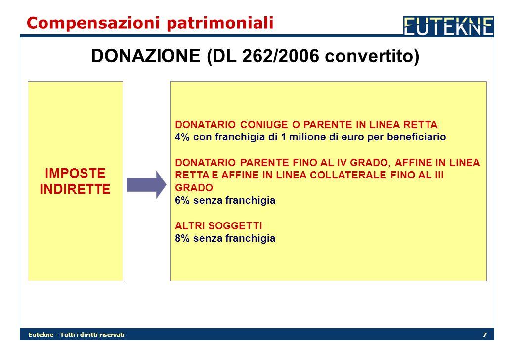 DONAZIONE (DL 262/2006 convertito)