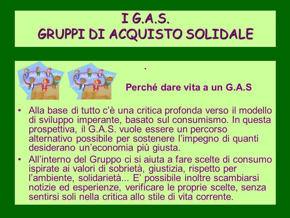I G.A.S. GRUPPI DI ACQUISTO SOLIDALE