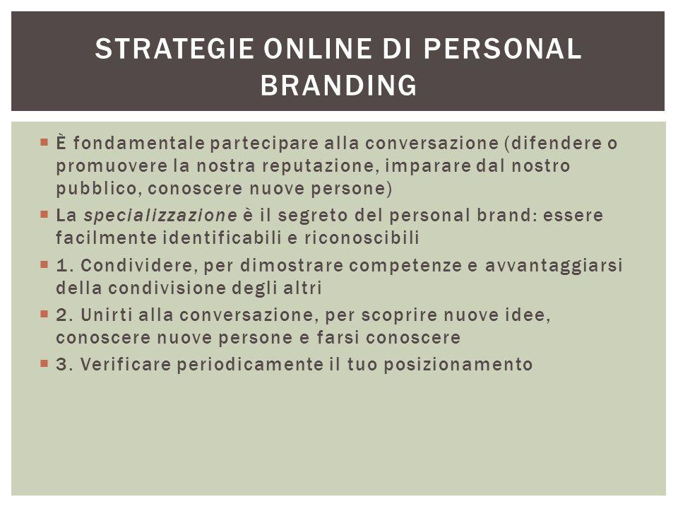 Strategie online di personal branding