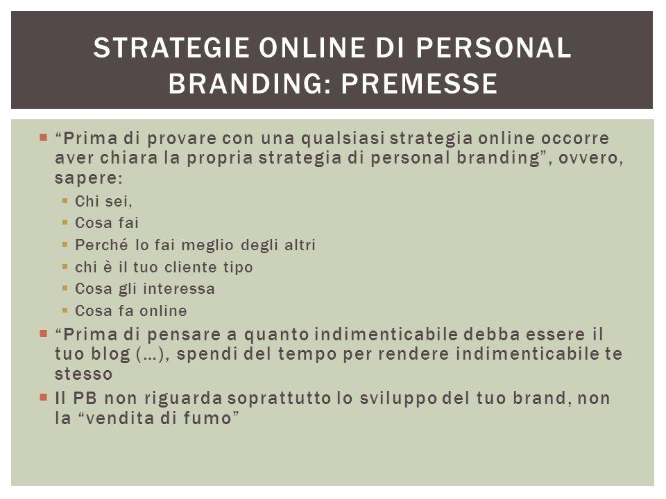 Strategie online di personal branding: premesse