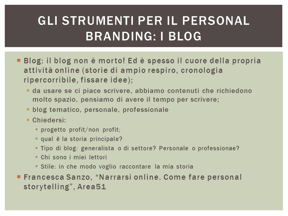 Gli strumenti per il personal branding: i blog