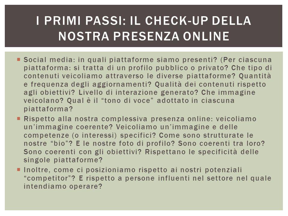 I primi passi: il check-up della nostra presenza online