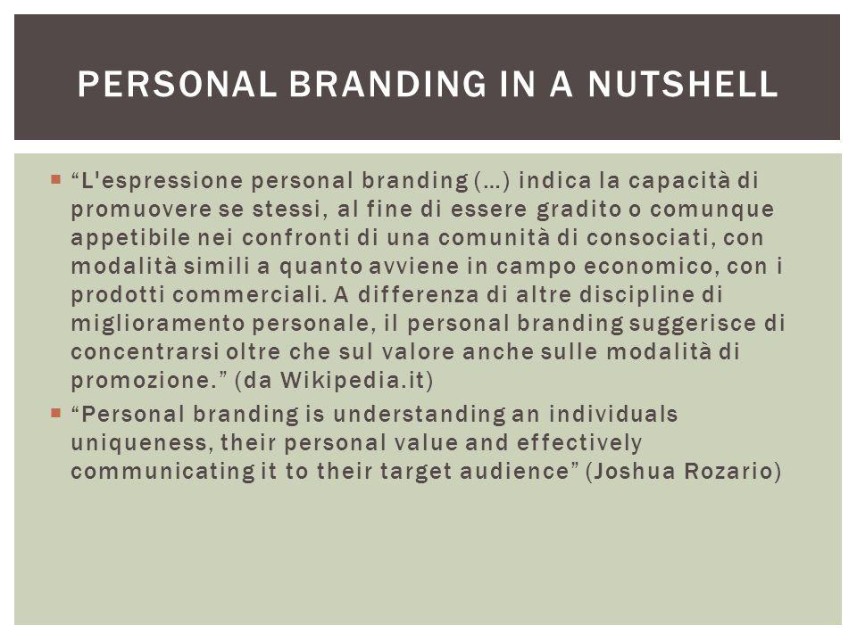 Personal branding in a nutshell