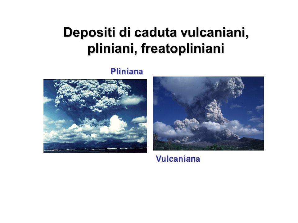 Depositi di caduta vulcaniani, pliniani, freatopliniani