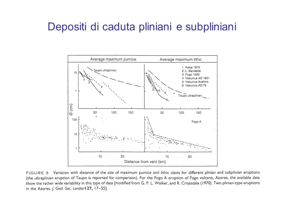 Depositi di caduta pliniani e subpliniani