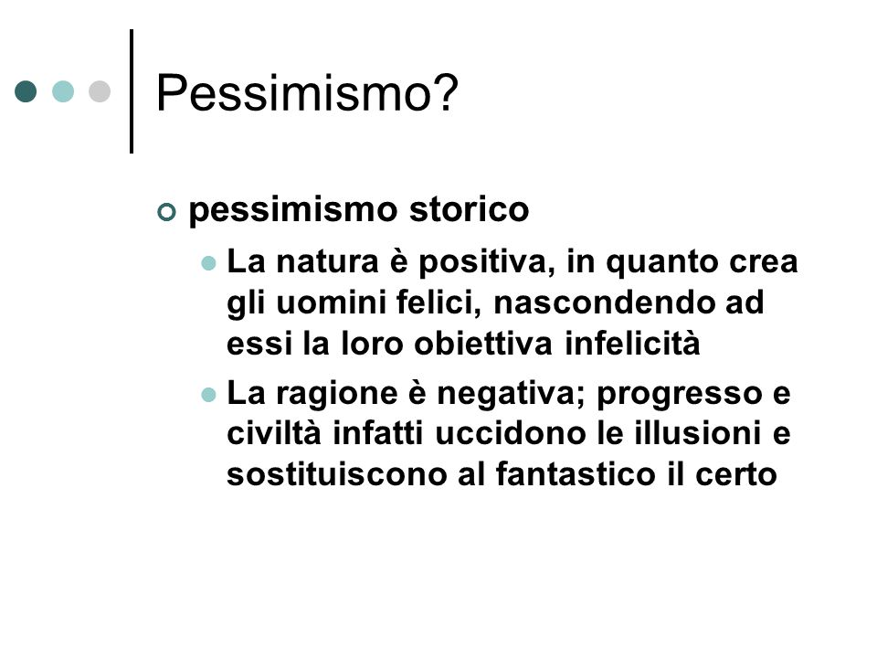Pessimismo pessimismo storico