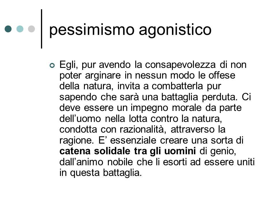 pessimismo agonistico