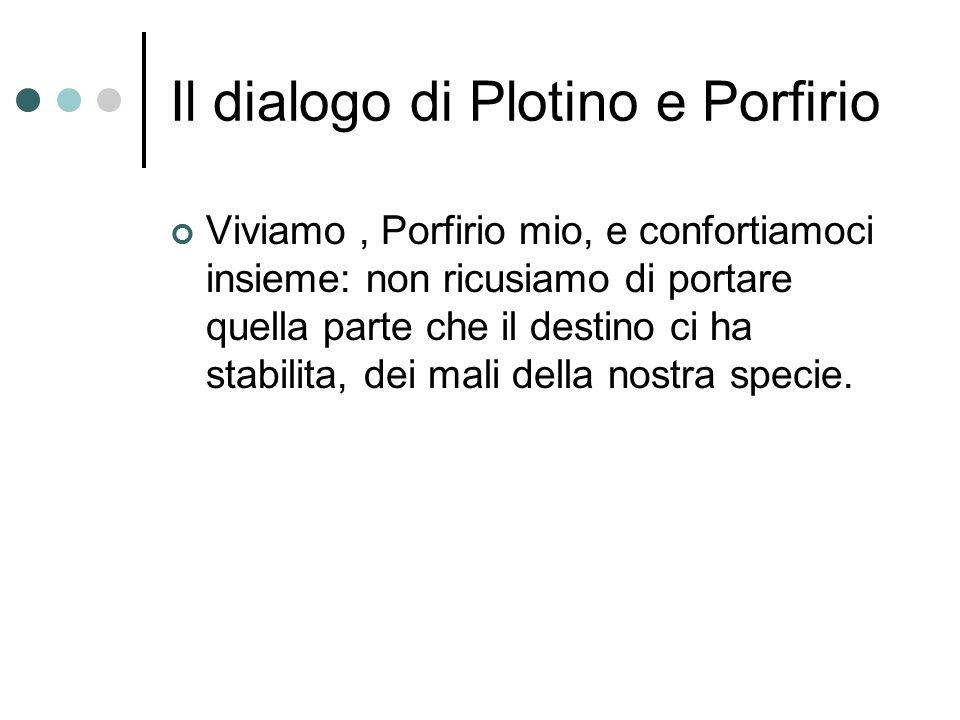 Il dialogo di Plotino e Porfirio