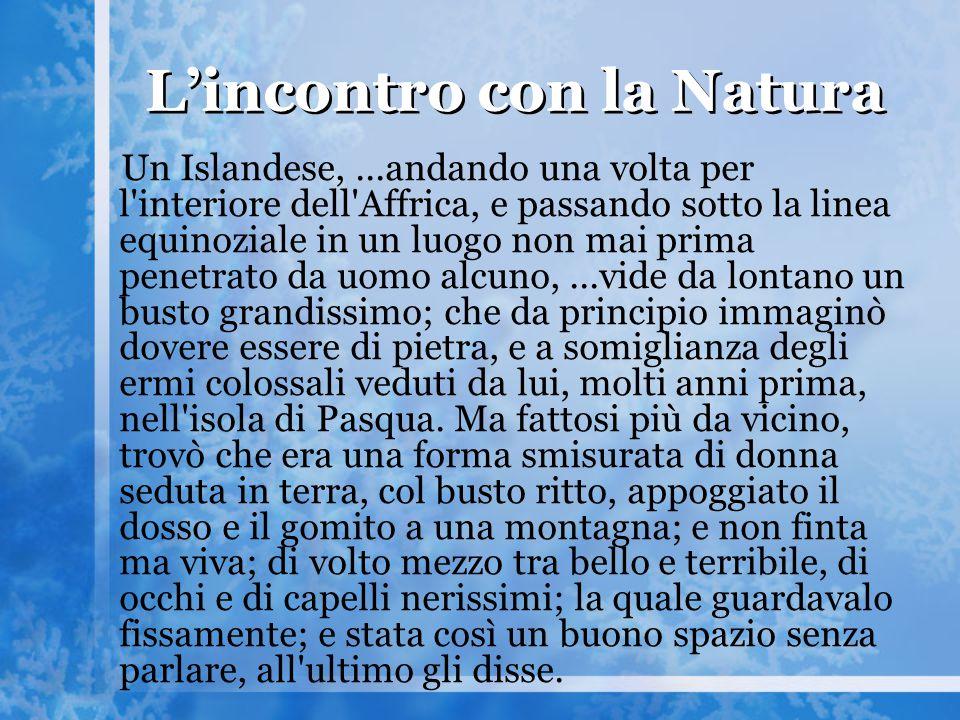 L'incontro con la Natura