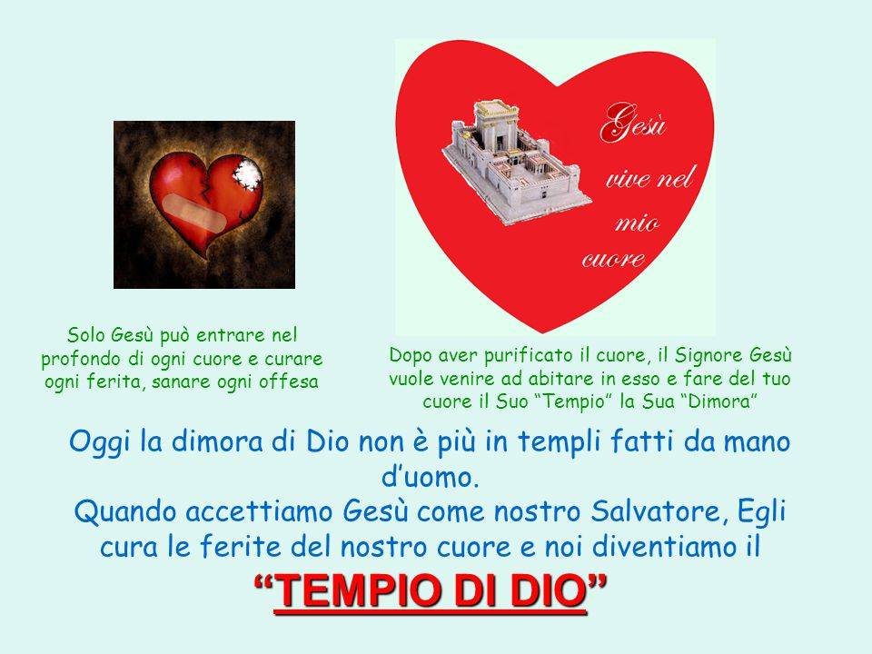 Solo Gesù può entrare nel profondo di ogni cuore e curare ogni ferita, sanare ogni offesa