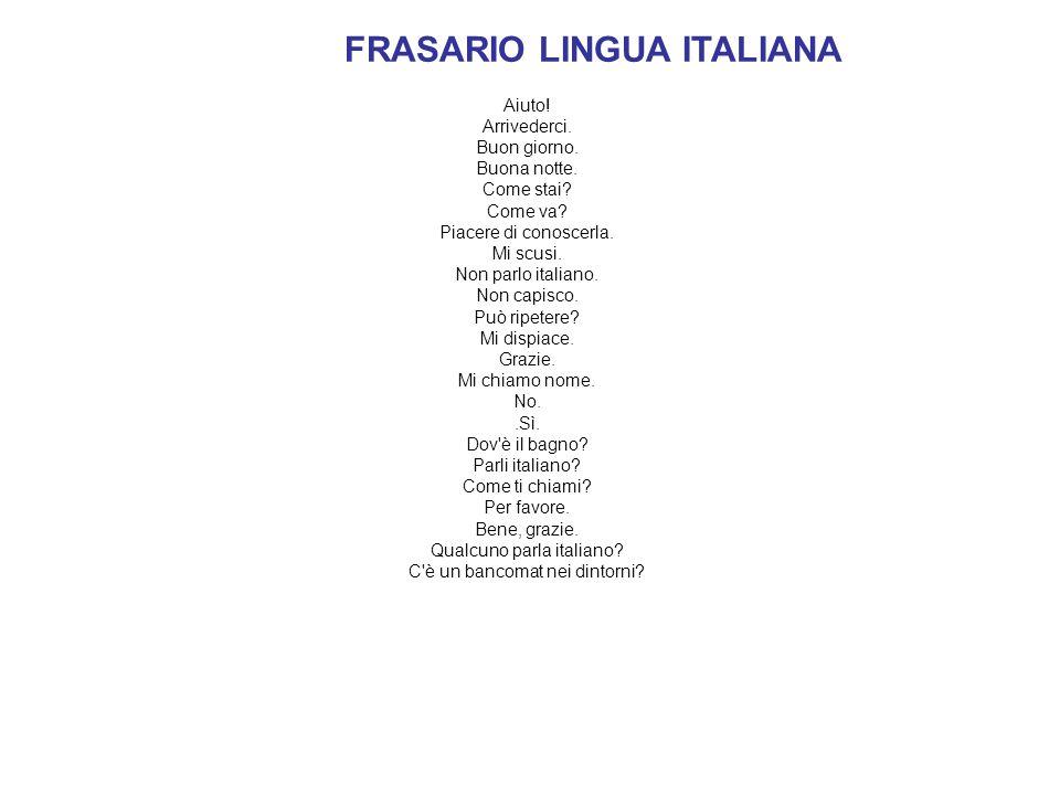 FRASARIO LINGUA ITALIANA