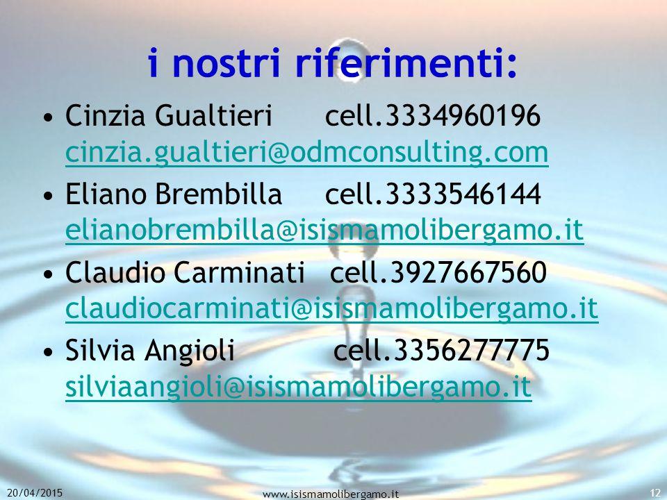 i nostri riferimenti: Cinzia Gualtieri cell.3334960196 cinzia.gualtieri@odmconsulting.com.