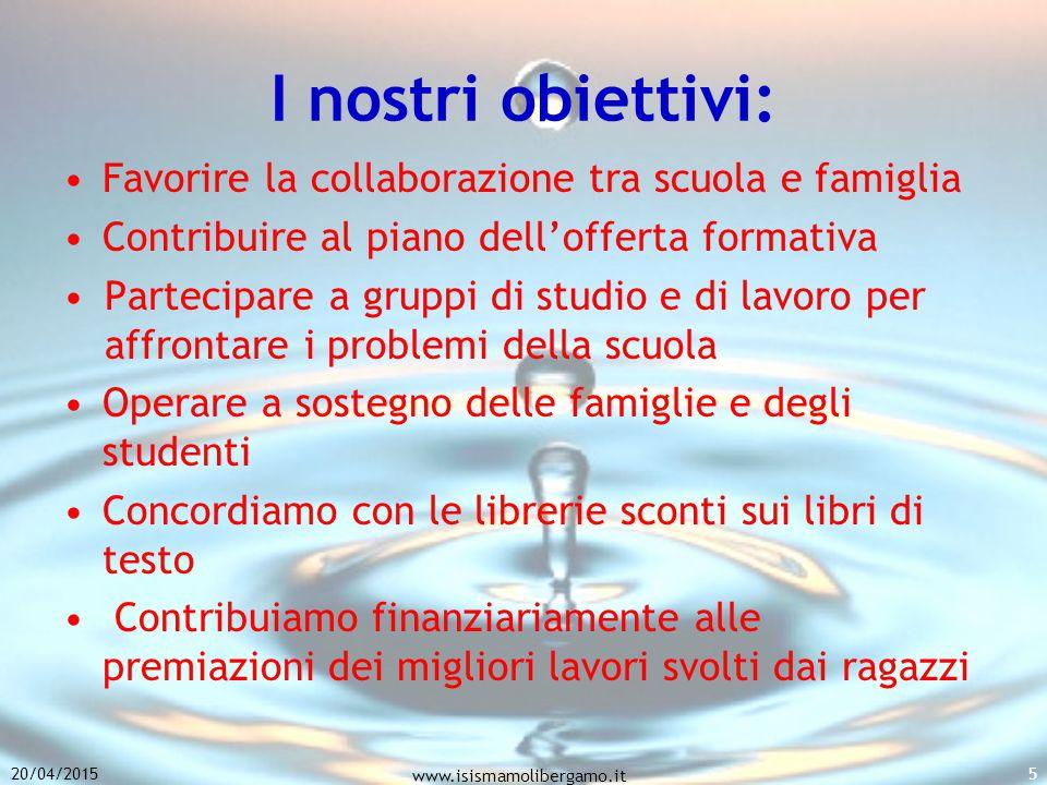 I nostri obiettivi: Favorire la collaborazione tra scuola e famiglia