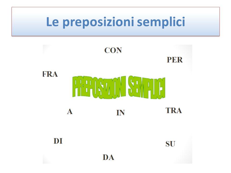 Le preposizioni semplici