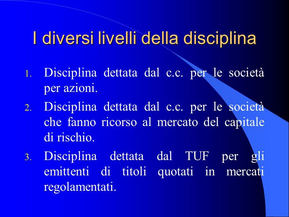 I diversi livelli della disciplina