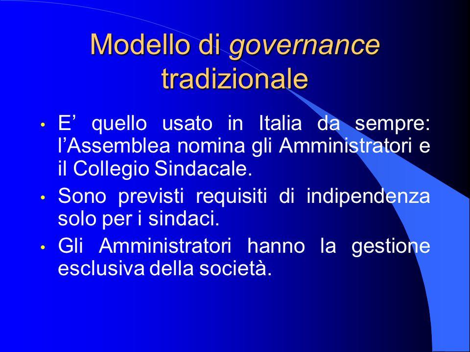 Modello di governance tradizionale