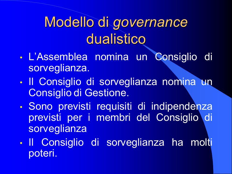 Modello di governance dualistico