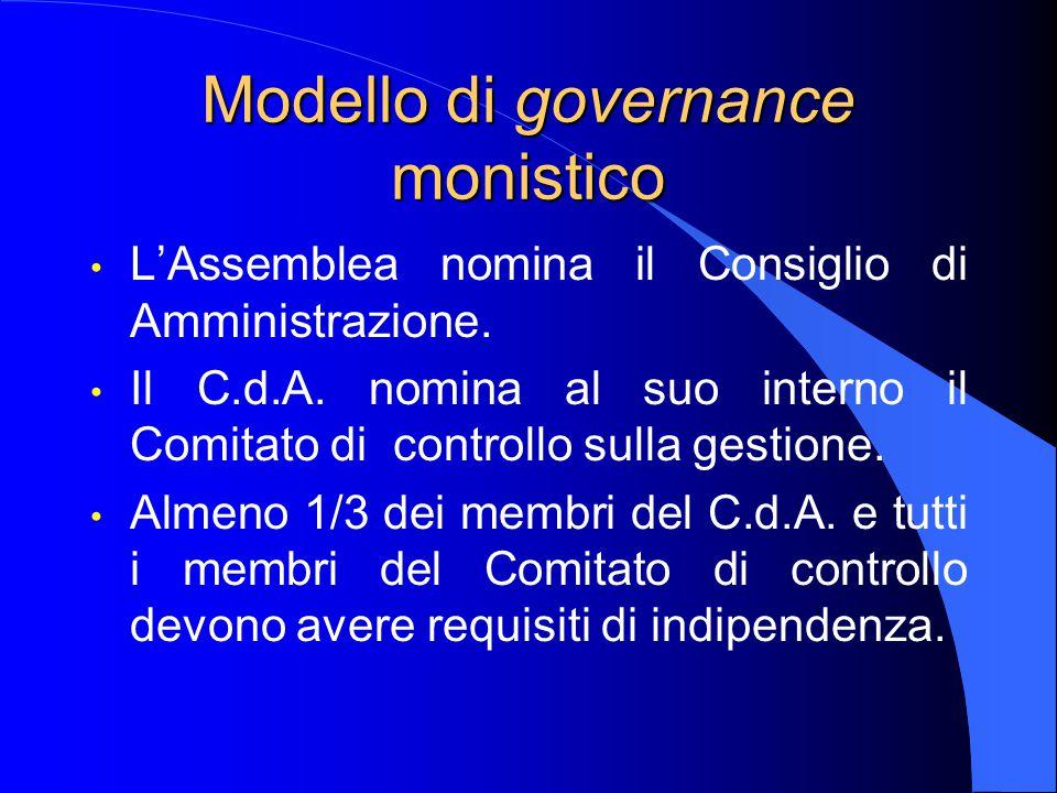 Modello di governance monistico