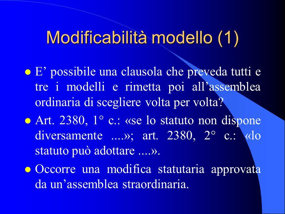 Modificabilità modello (1)