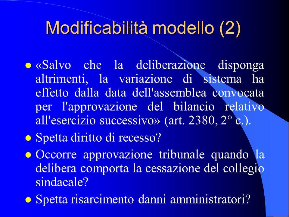 Modificabilità modello (2)
