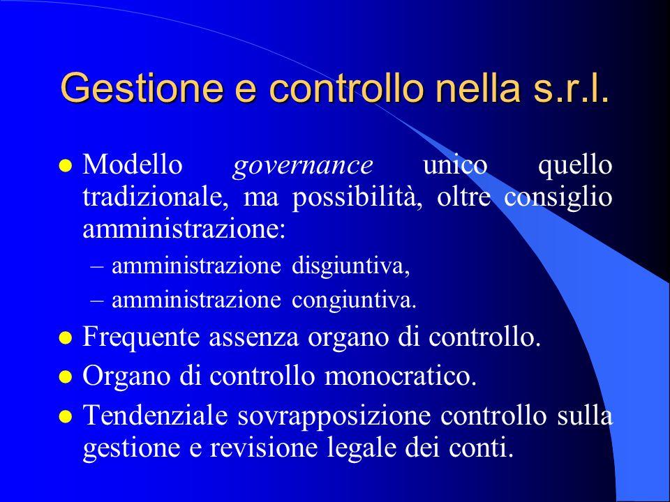 Gestione e controllo nella s.r.l.