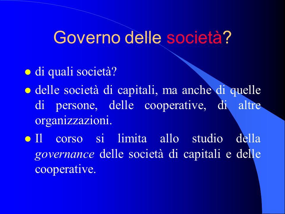 Governo delle società di quali società