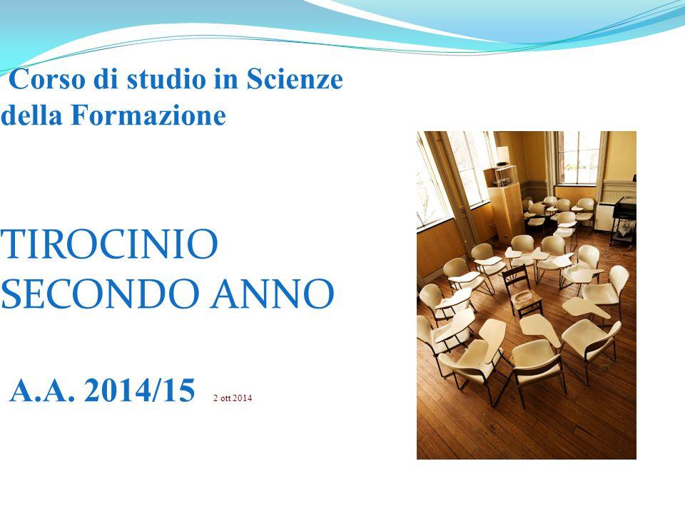 Corso di studio in Scienze della Formazione TIROCINIO SECONDO ANNO A.A. 2014/15 2 ott 2014