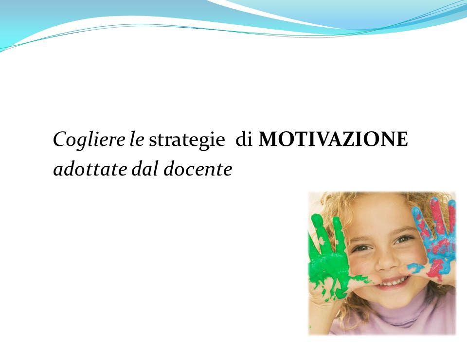 Cogliere le strategie di MOTIVAZIONE