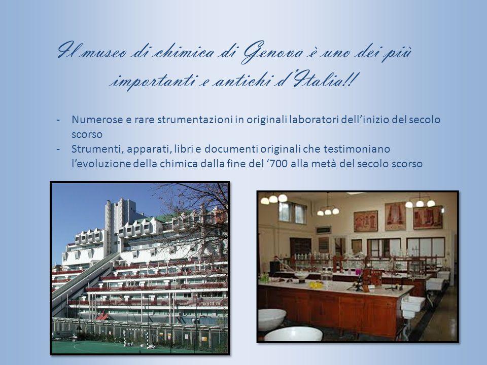 Il museo di chimica di Genova è uno dei più importanti e antichi d'Italia!!