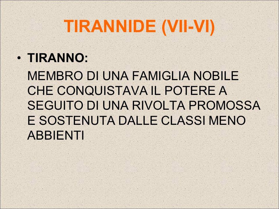 TIRANNIDE (VII-VI) TIRANNO: