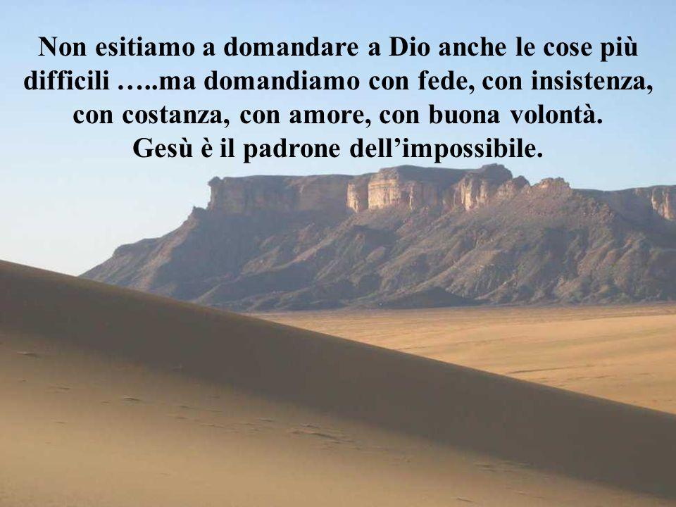 Gesù è il padrone dell'impossibile.